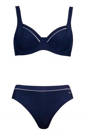 Bikini – Einlitt með hvítri líningu Sundföt Bikini – Einlitt með hvítri líningu